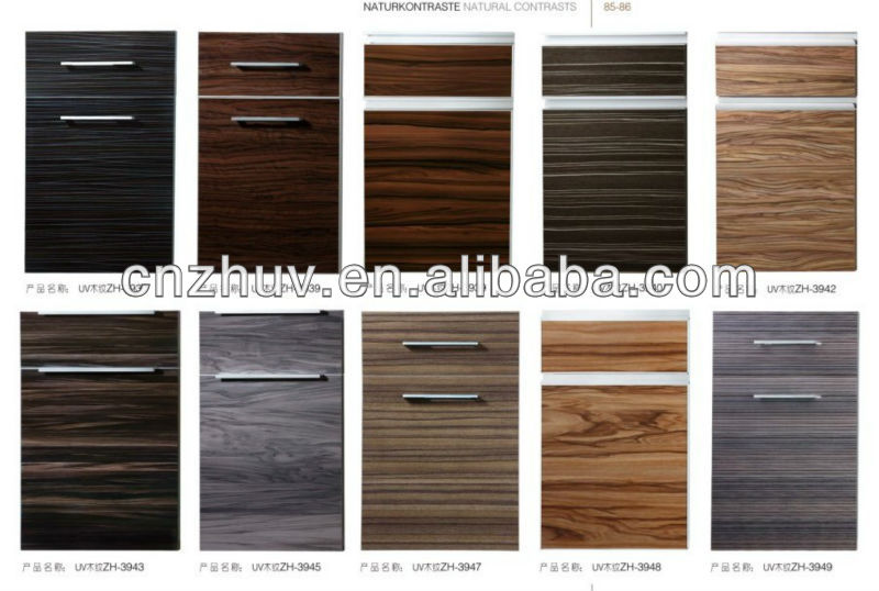 Particle Board Kitchen Cabinet Doors Wood Grain Melamine Particleboard Kitchen CabiDoors   Buy Wood