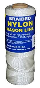 T.W Evans Cordage 12-000 Number-1 Braided Nylon Mason Line, 1000-Feet