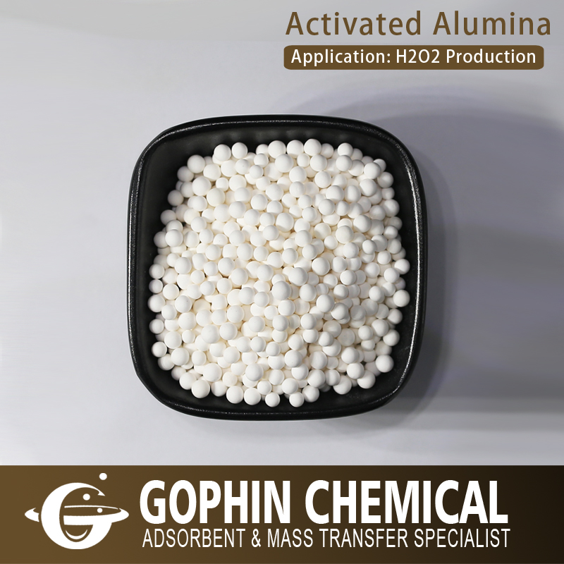 3-5mm 4-6mm Activated Alumina Al2O3 for H2O2 Production