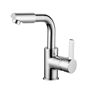 60 Rotation Spout Modern Bathroom Mixer Tap Deck Mounted Single Handle Faucet