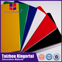 Alucoworld color variety super facility installation pvdf/pe aluminum composite panel exterior wall material