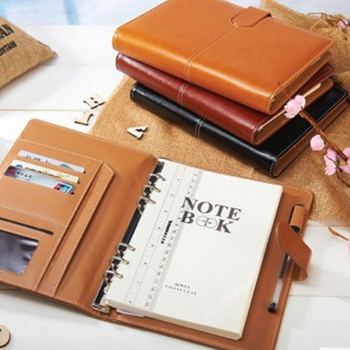 2015-Business-Leather-Notebook-Quality-ring-binder-a5