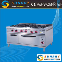 6 burner gas range with gas range oven and gas stove (SUNRRY SY-GB700C-1)