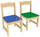 Wooden Study Chair Play School Chair Colorful Nursery Chair