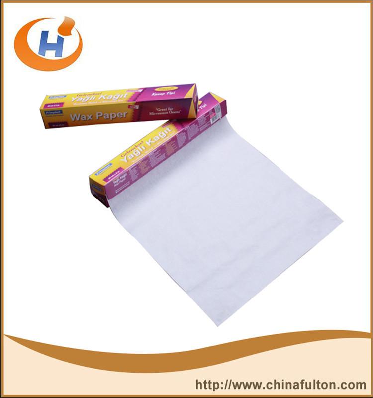 China farbiges Wachspapierhersteller liefert wasserdichte Verpackung Hamburgerpastetchenquadrate