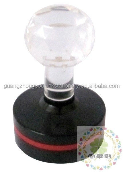 Flash Stamp with crystal handle/HB flash stamp mount handle