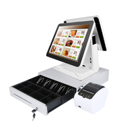 Dual 15 Inch TFT LCD Windows Tablet Payment Cashier Register/Touch Screen Pos System POS All in one PC