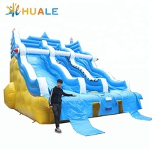 Guangzhou Huale inflatable water slides, inflatable mini water slide water park for swimming pool