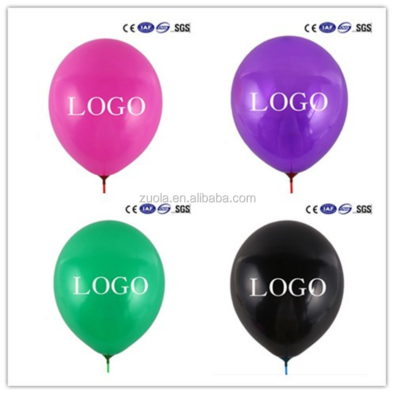 Custom holiday latex balloons with your designs