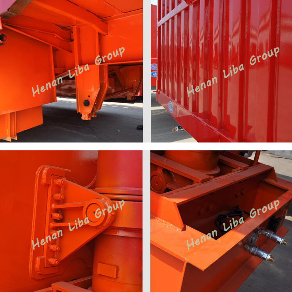 Top Quality Best Seller Liba Brand Cargo Trailer Tri-Axle Box Trailer With Iso 9001 For African Market