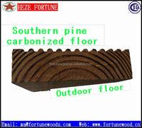 carbonized pine solid wood flooring