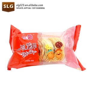 crispy small packet delicious round piece shape potato chips
