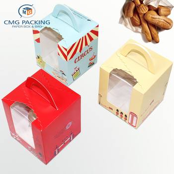 wholesale Cupcake Box with Handle Wedding Favors Cake Boxes Packaging Cupcake Gift Box