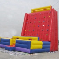 Commercial Children Inflatable Rock Climbing Wall , Inflatable Climbing Wall