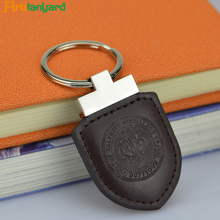 Universal leather fabric keychain for bags and car