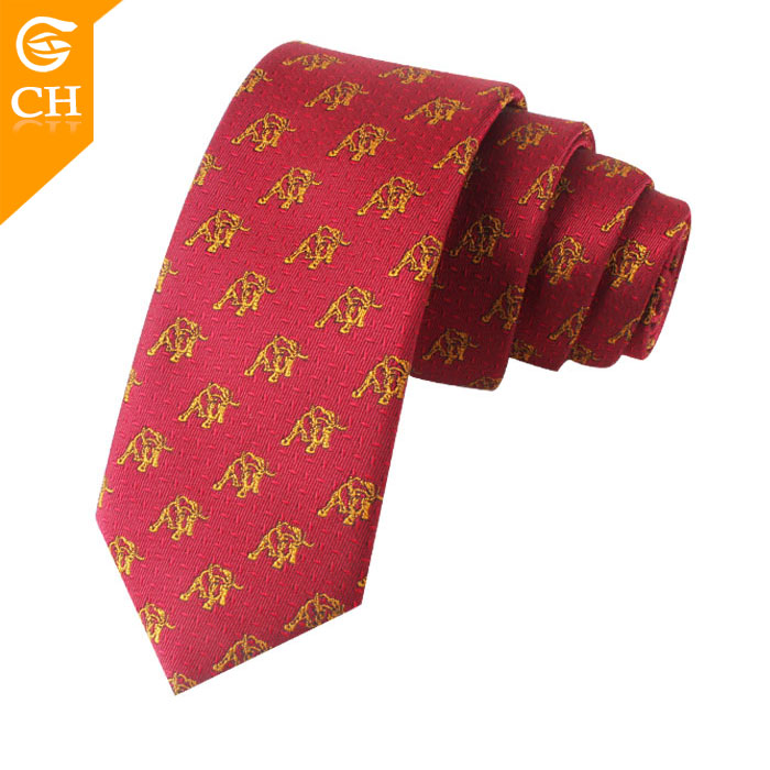 Custom New Fashion Cow Pattern Mens Cheap Woven Neck Ties