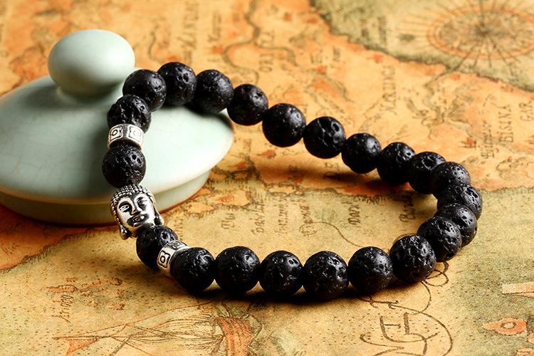 2016 натуральные камни будда браслет лавы бирюзовый оникс бусины мужчины браслет