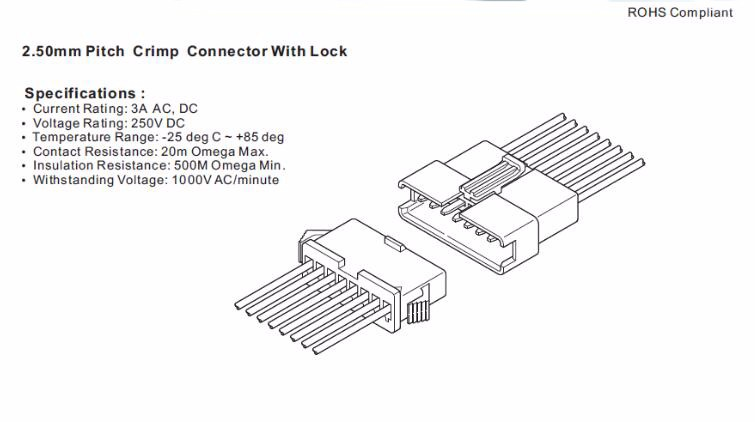 jst sm 2 5mm connector 2-12pin male female 3 pin sm connector for wire harness