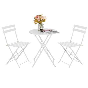 Al Patio Unidades 3 Muebles Sillas Plegable mesa Y Buy Metal Mesa De Bistro Balcón Aire Bistro Libre Jardín MpzVqGSU