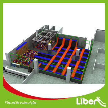 new design foam pit and climbing rock middle liben indoor trampoline park