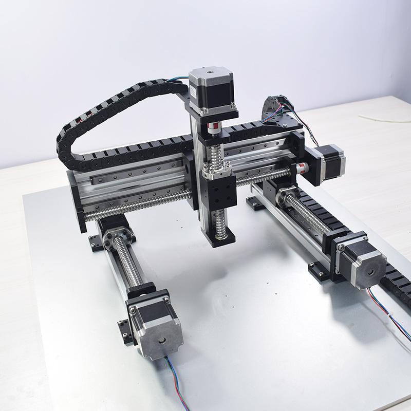 Automatic Gantry Robot Linear Modules Slide XYZ Axis Multiaxial Rail Motion Guide Actuator Ball Screw Motor Robotic Table