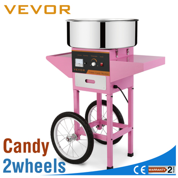 vevor electric commercial cotton candy machine floss maker pink cart stand - Cotton Candy Machines