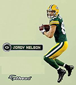 Jordy Nelson FATHEAD Junior Green Bay Packers Official NFL Vinyl Wall  Graphic ... 15746a3f4
