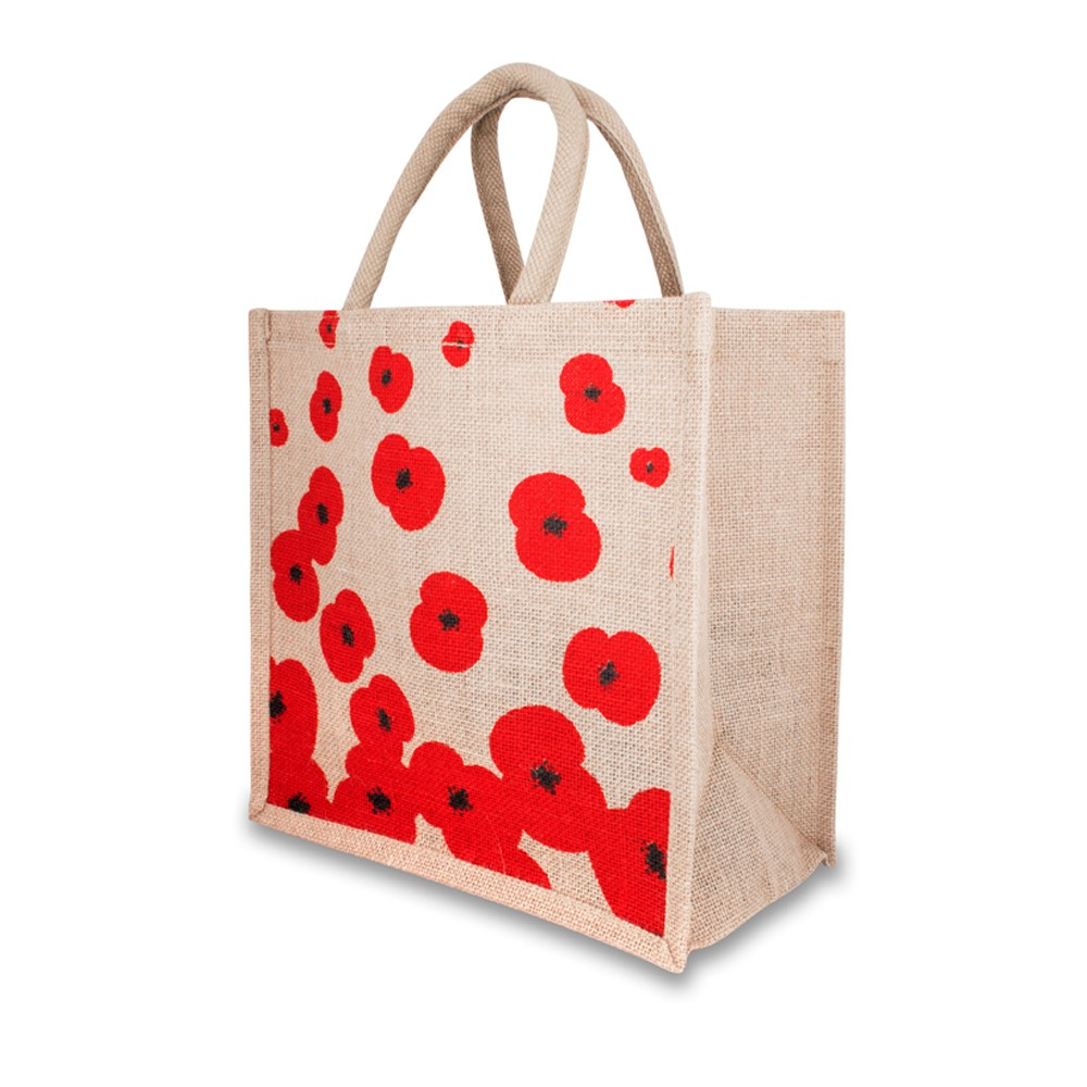Luxury jute ecofriendly shopping bag featuring different design