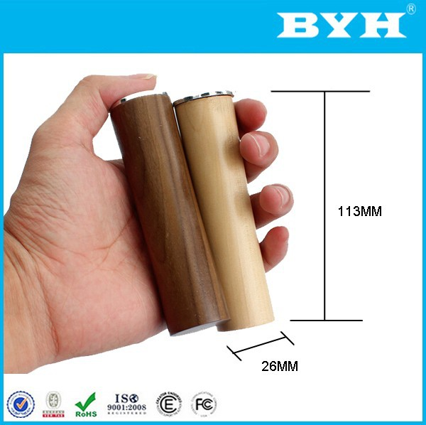 high quality USB wooden power bank without cable power