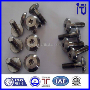 Good price titanium M6 flat head countersunk bolts Customized