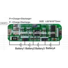 4S 4A Li-ion/Li-polymer/LiFePO4 Battery Pack PCM BMS