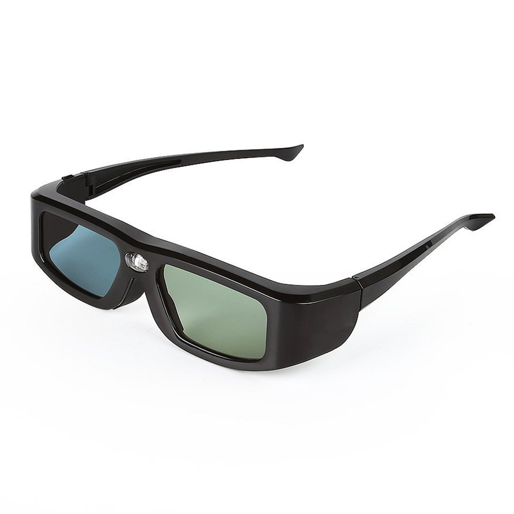 3D Glasses - TOOGOO(R)Zodiac 904 Series 144Hz Rechargeable 3D Shutter Glasses for Acer/NEC/BenQ/eMachines/LG/Optoma/Vivitek 3D-Ready DLP Projectors Black