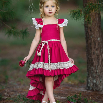 f636bc705 ... girl dress. 2019 newest high quality red lace kids cotton frocks neck  design2019 newest high quality red lace
