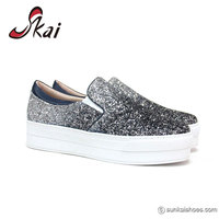 2017 Young Womans Platform Shoes Mixed Colors Glitter Casual Ladies Shoes