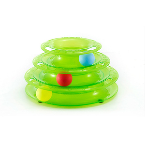 Cat Toy with Interactive Intelligence Track Ball Tower , Provides Hours of Mental Stimulation and Physical Play