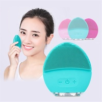 Sonic Facial Cleansing Brush IPX7 Waterproof Electric Silicone Face Massager USB Rechargeable Face Scrubber for Home SPA Use