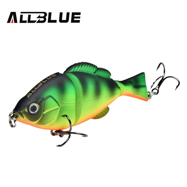 AllBlue Jointed Swimbait 8cm 15g Vib Bass Pike For Sinking Fishing Lure, 6 colors