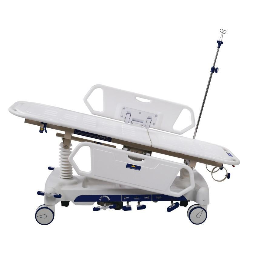 Patient stretcher trolley model AC-ST019  made of stong rolled steel good functions