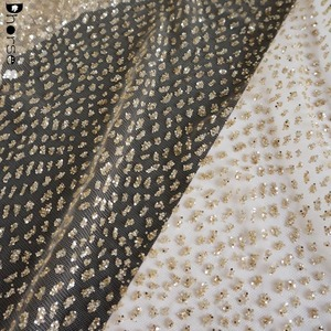 New Design Color Customized Glitter Mesh Tulle Lace Fabric DHGL0915
