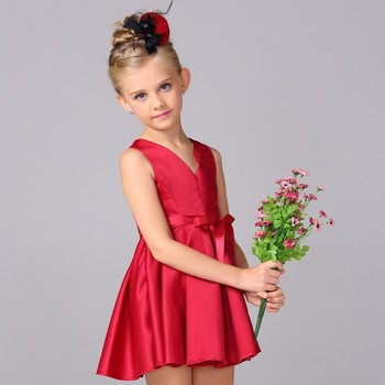 a4e412c56 Lovely baby clothes wholesale price flower girls velvet new age birthday  party dress kids frock L
