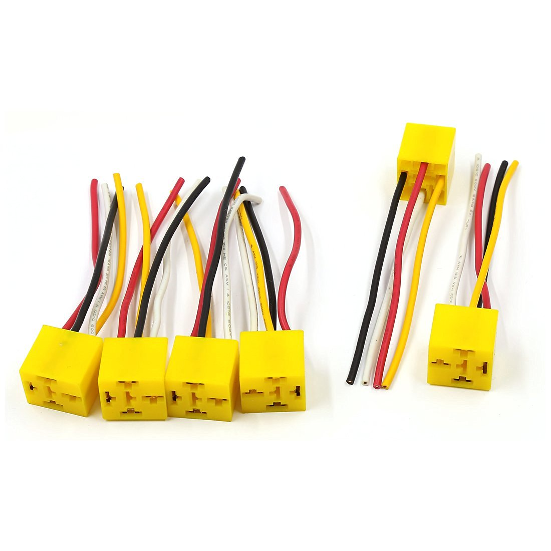 Cheap Car 12v Socket Wiring Find Deals On Harness Holders Get Quotations Uxcell 6 Pcs 4 Pins Automotive Relay Holder Dc