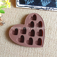 Wholesale food grade high quality heart shape kitchen bread DIY baking tools love heart shape silicone cake mold
