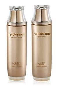 KOREAN COSMETICS, LG Household & Health Care_ LACVERT, Live Natural Re: blossom 2-piece set (Re: blossom Skin Softener 150ml + Re: blossom emulsion 150ml) (highly enriched, nutrition, moisturizing) [001KR]