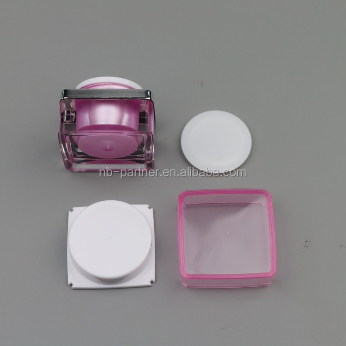 5g Mini Small Colorful Plastic Empty Clear Square Anti-wrinkles ...