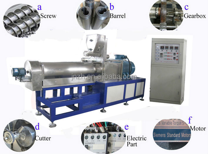 Automatic Corn Snack Chips Production Line /Breakfast Cereals Corn Flakes Processing Machine