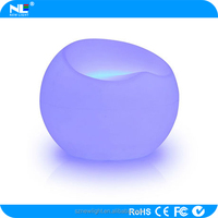 Christmas ornaments led light sofa .Full color change apple shape chair for decoration or party or festival happy day