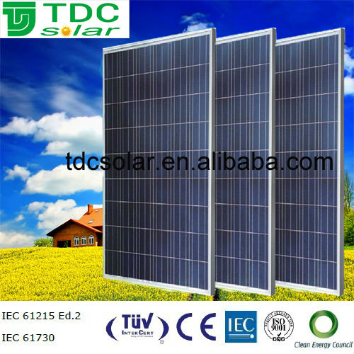 High efficiency 250w poly pv solar panel with TUV,IEC,<strong>CE</strong>,ISO certificate