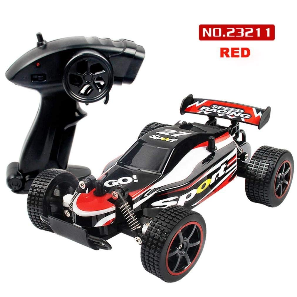 Outsta Radio Remote Control Car,1:20 Scale Car,2.4GHZ 2WD Radio Remote Control Off Road RC GTR Racing Car Truck Vehicle Toy Remote Control Car Electric Cars Truck-Green or Red,Gift for Boys (Red)