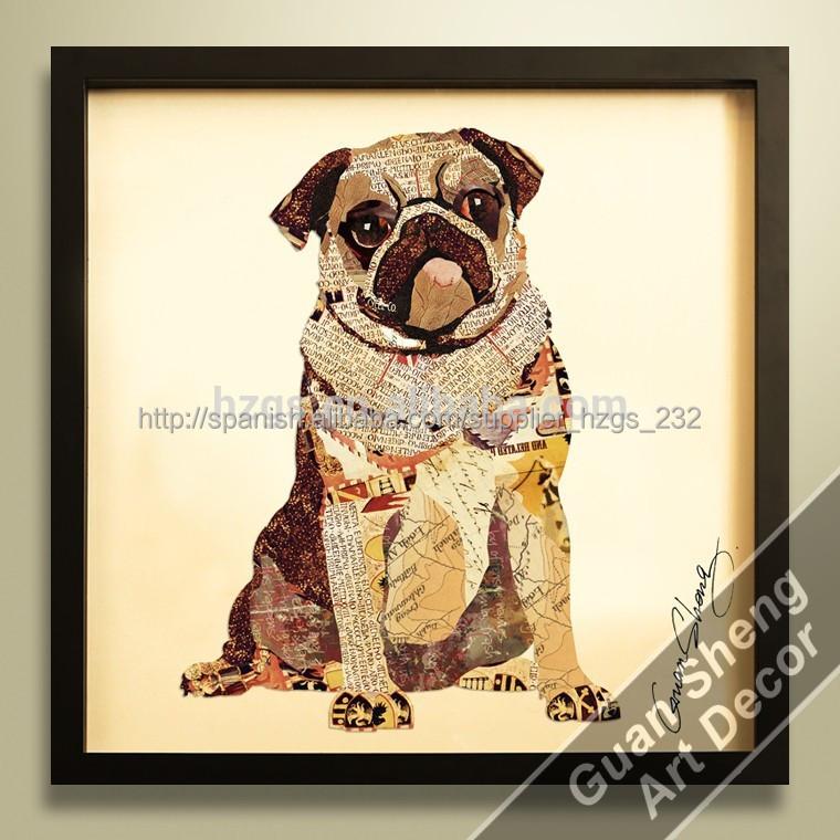 Especial para perros pug animal ideas para pintar cuadros for Ideas para pintar cuadros