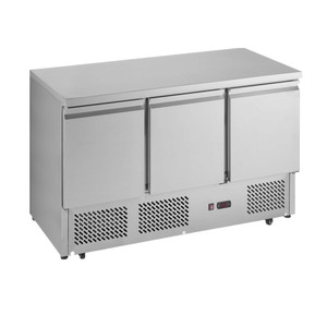 New Design 3 Door Pizza Refrigerator Cabinet With Stainless Steel AISI 304 Structure